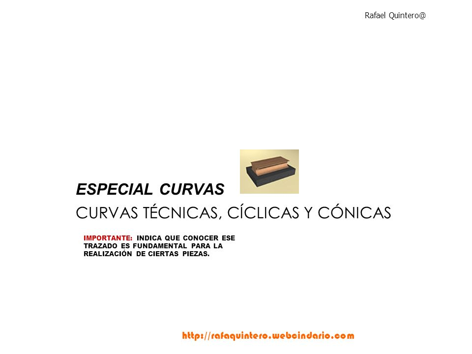 CURVAS TÉCNICAS, CÍCLICAS Y CÓNICAS
