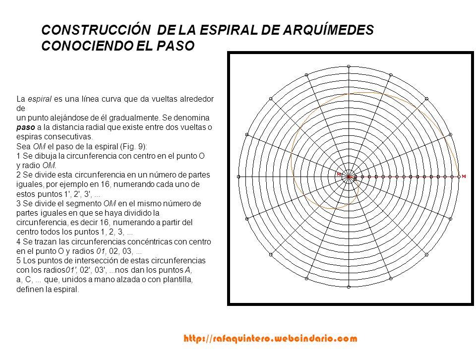 CONSTRUCCIÓN DE LA ESPIRAL DE ARQUÍMEDES CONOCIENDO EL PASO