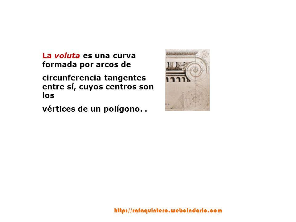 La voluta es una curva formada por arcos de