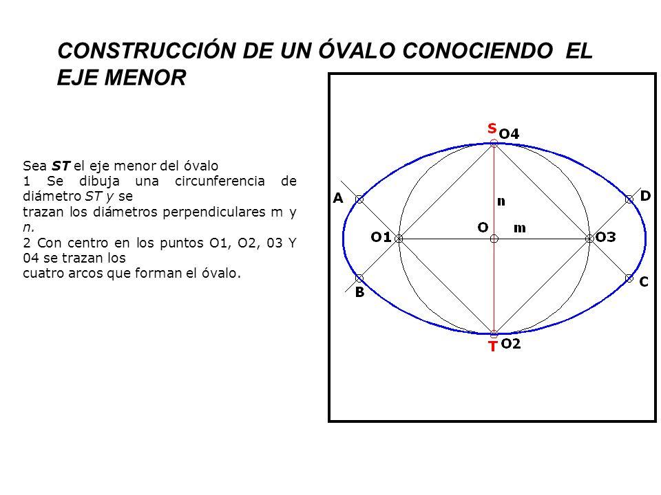 CONSTRUCCIÓN DE UN ÓVALO CONOCIENDO EL EJE MENOR