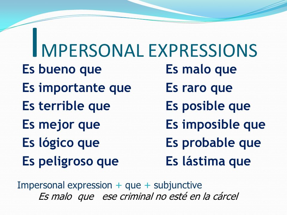IMPERSONAL EXPRESSIONS