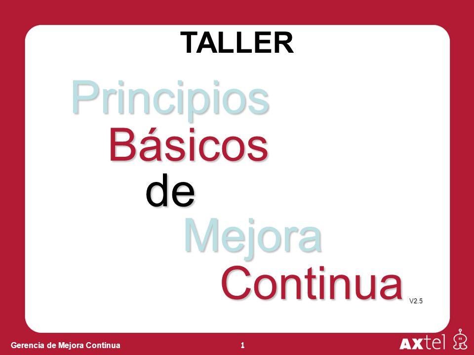 TALLER Principios Básicos de Mejora Continua V2.5