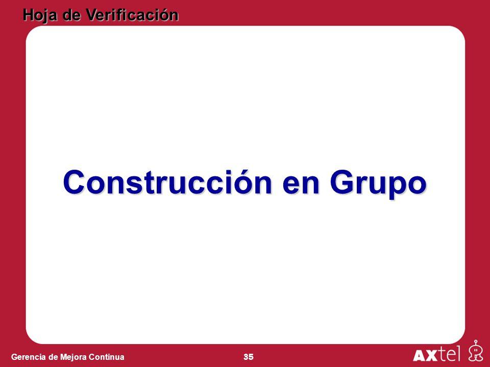 Hoja de Verificación Construcción en Grupo