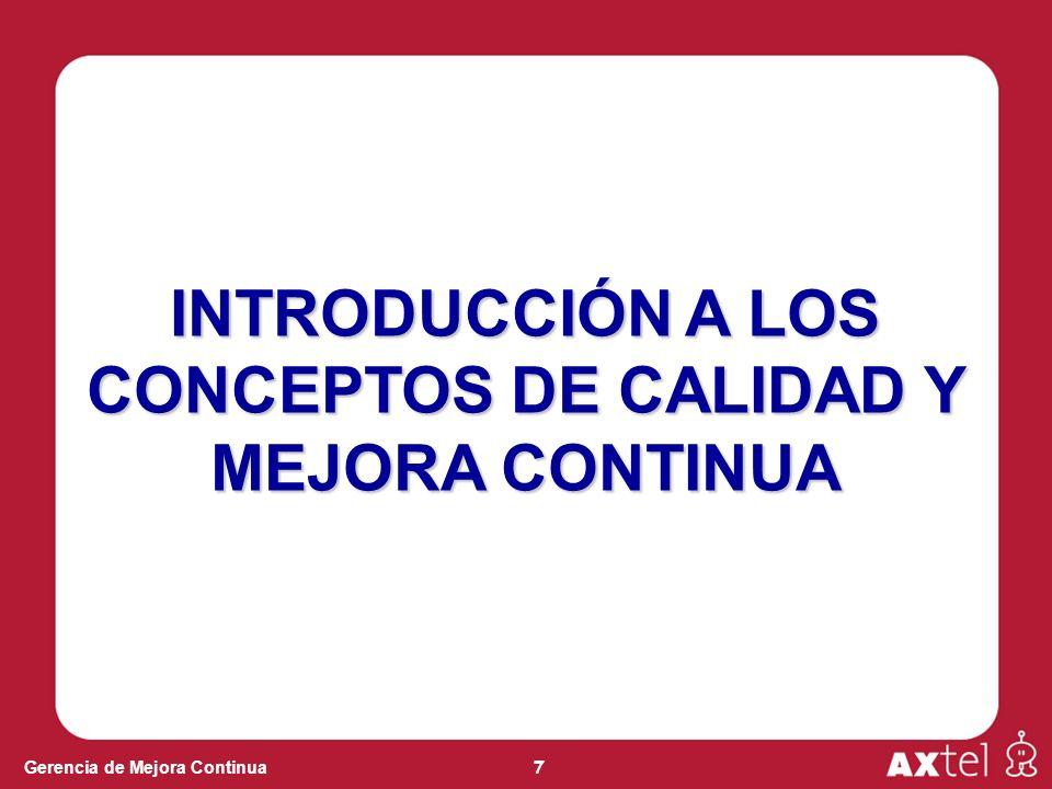 INTRODUCCIÓN A LOS CONCEPTOS DE CALIDAD Y MEJORA CONTINUA