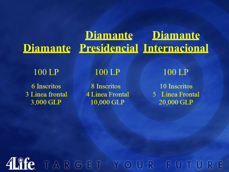 Diamante Presidencial Internacional 100 LP 6 Inscritos 3 Linea frontal