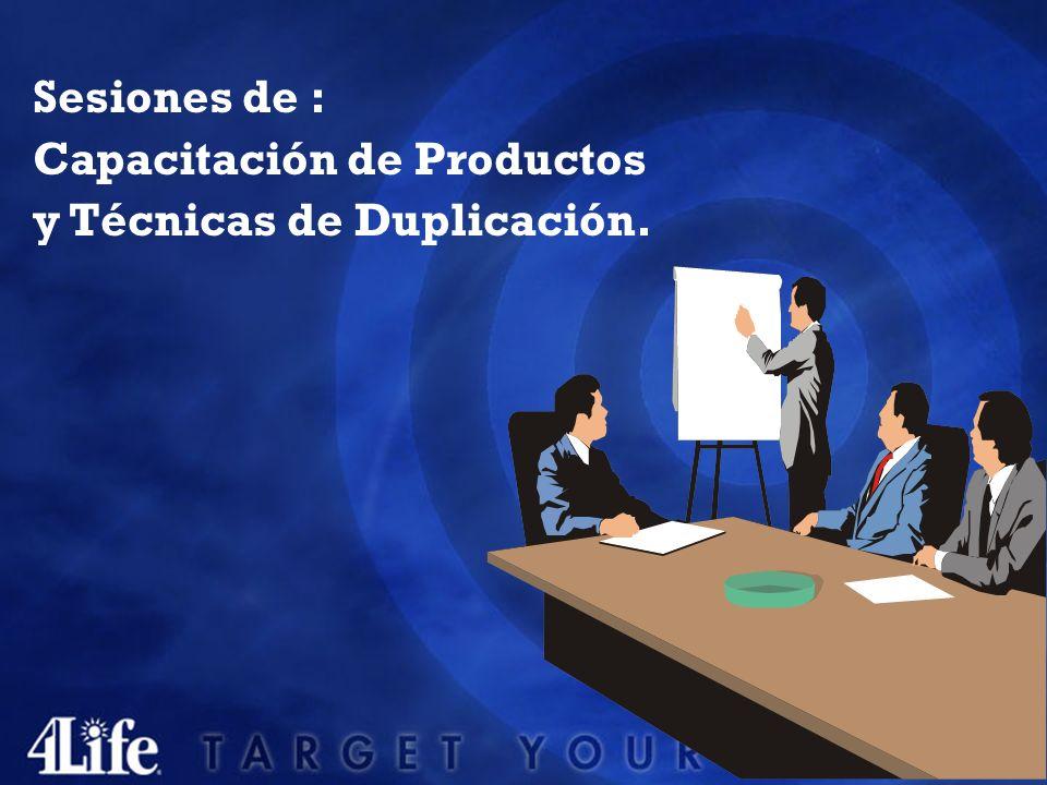 Sesiones de : Capacitación de Productos y Técnicas de Duplicación.