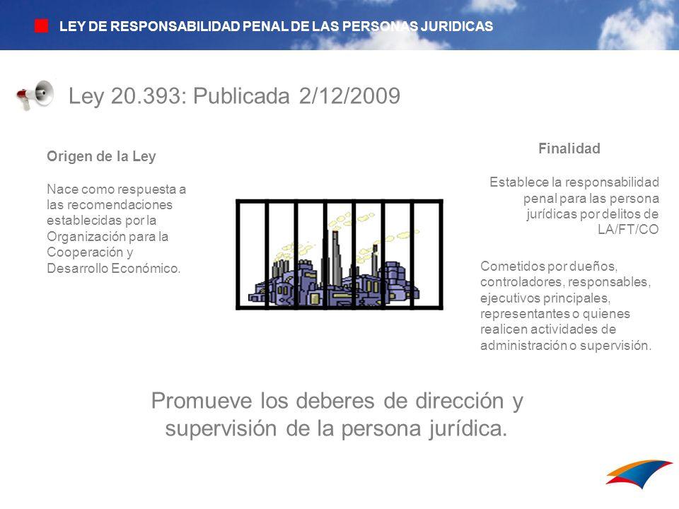 LEY DE RESPONSABILIDAD PENAL DE LAS PERSONAS JURIDICAS