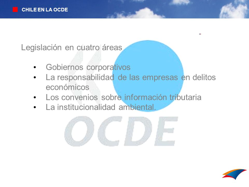 Legislación en cuatro áreas Gobiernos corporativos