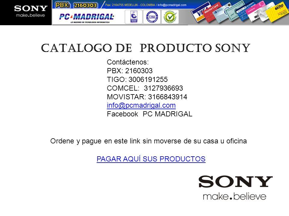 CATALOGO DE PRODUCTO SONY