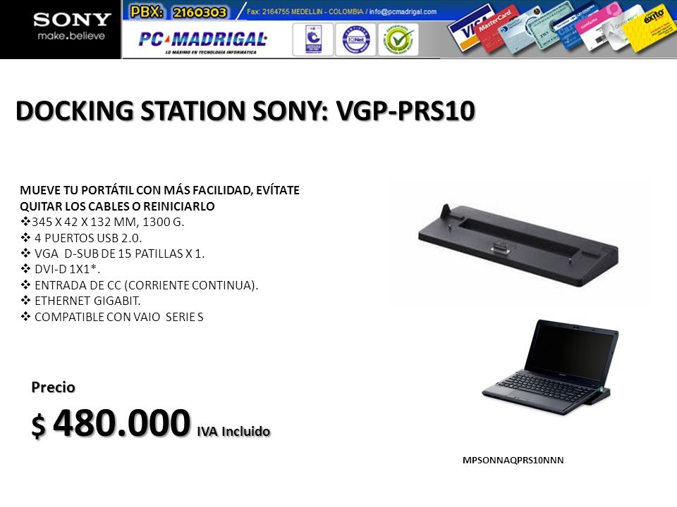 DOCKING STATION SONY: VGP-PRS10