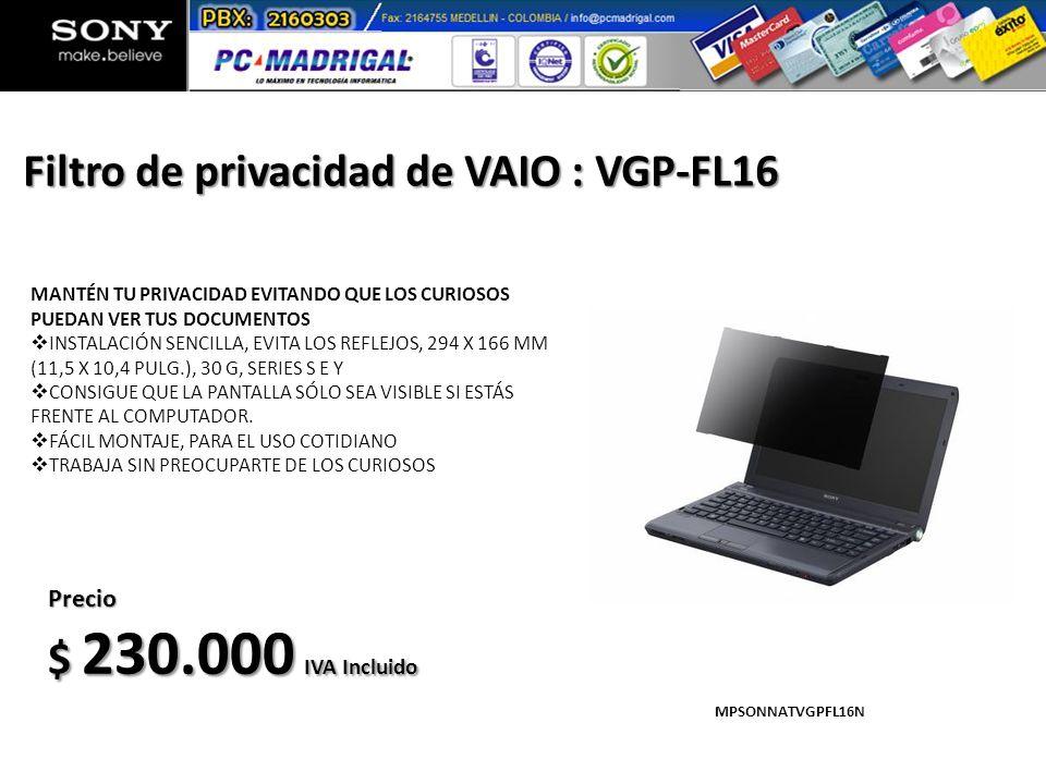 Filtro de privacidad de VAIO : VGP-FL16