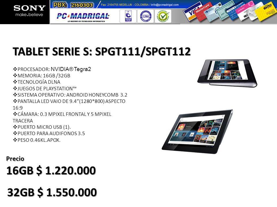TABLET SERIE S: SPGT111/SPGT112