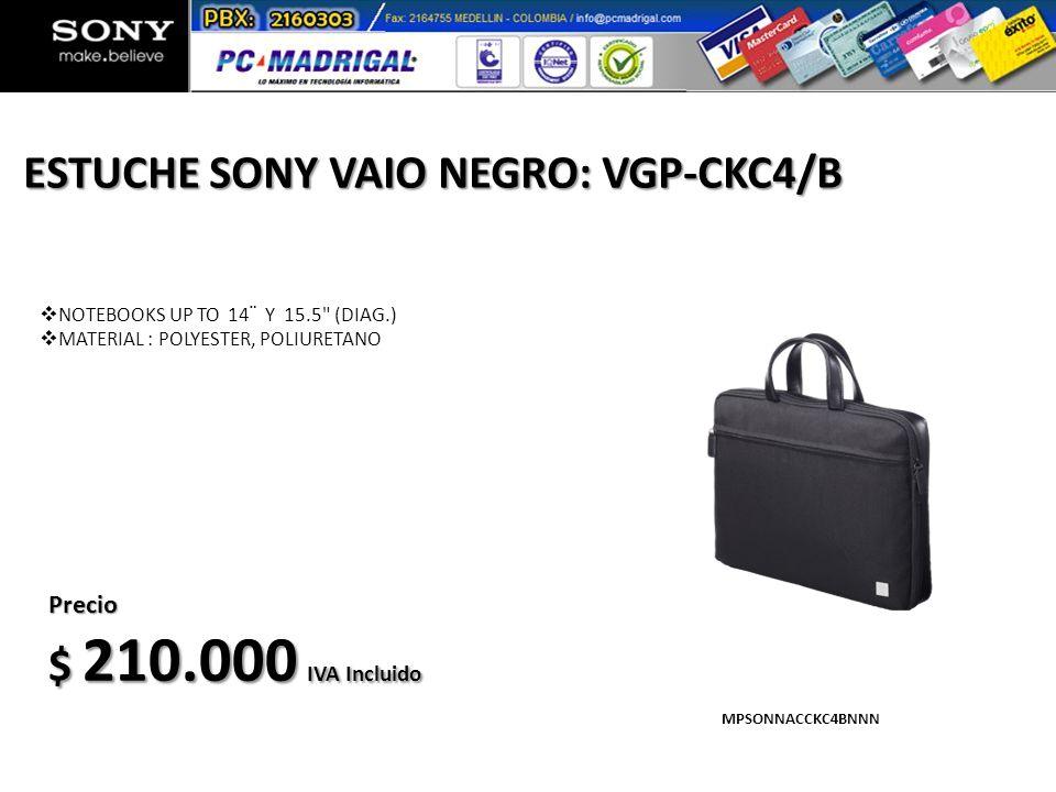 ESTUCHE SONY VAIO NEGRO: VGP-CKC4/B