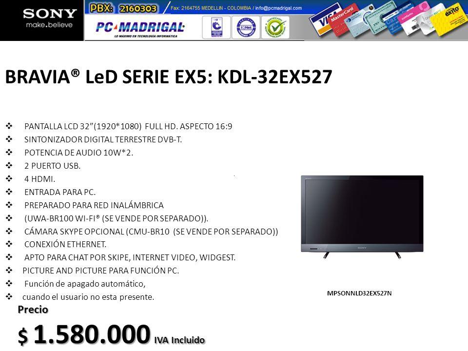 BRAVIA® LeD SERIE EX5: KDL-32EX527