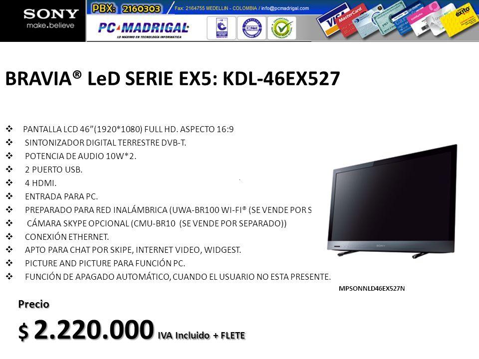 BRAVIA® LeD SERIE EX5: KDL-46EX527
