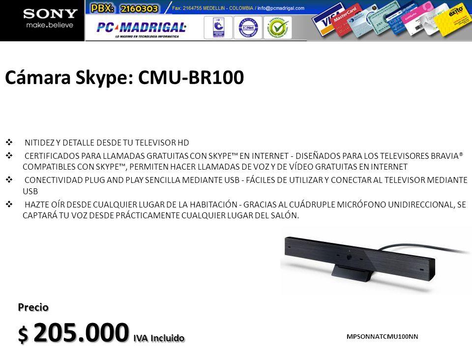 Cámara Skype: CMU-BR100 $ 205.000 IVA Incluido Precio