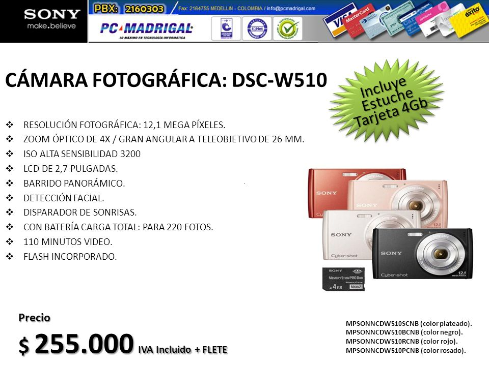 CÁMARA FOTOGRÁFICA: DSC-W510