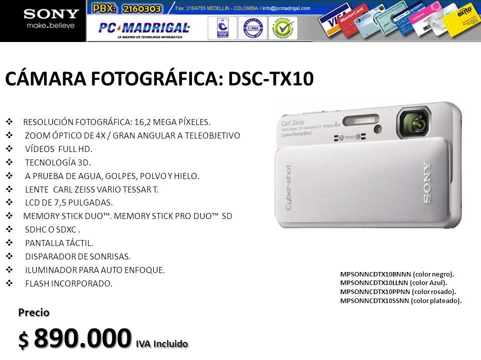 CÁMARA FOTOGRÁFICA: DSC-TX10