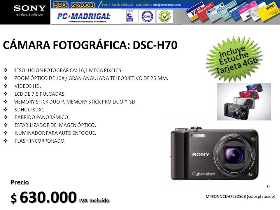 CÁMARA FOTOGRÁFICA: DSC-H70