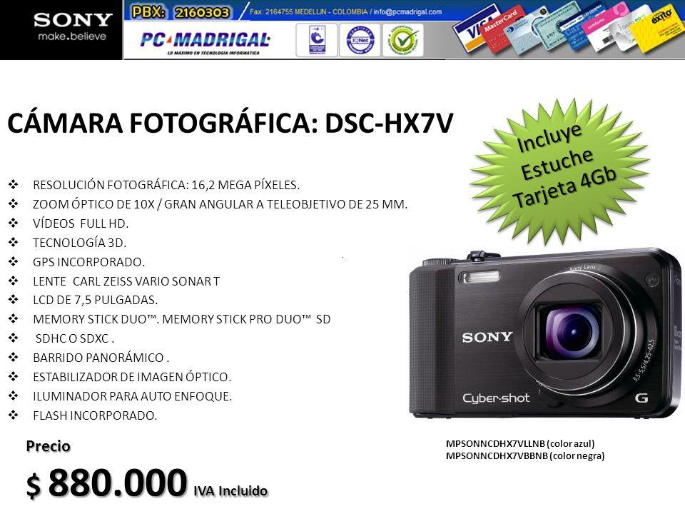 CÁMARA FOTOGRÁFICA: DSC-HX7V