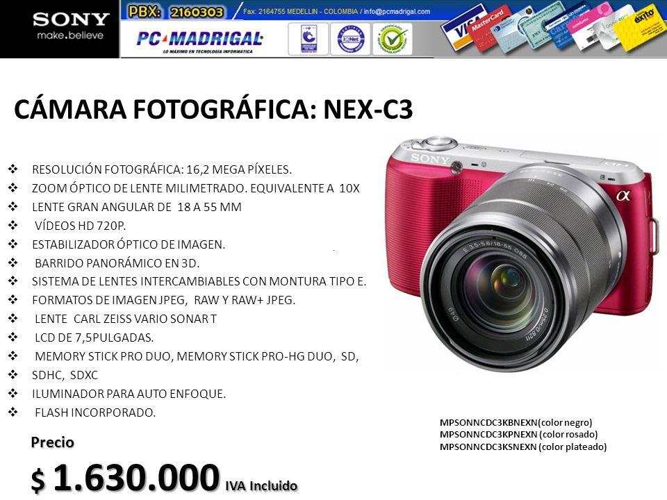 CÁMARA FOTOGRÁFICA: NEX-C3