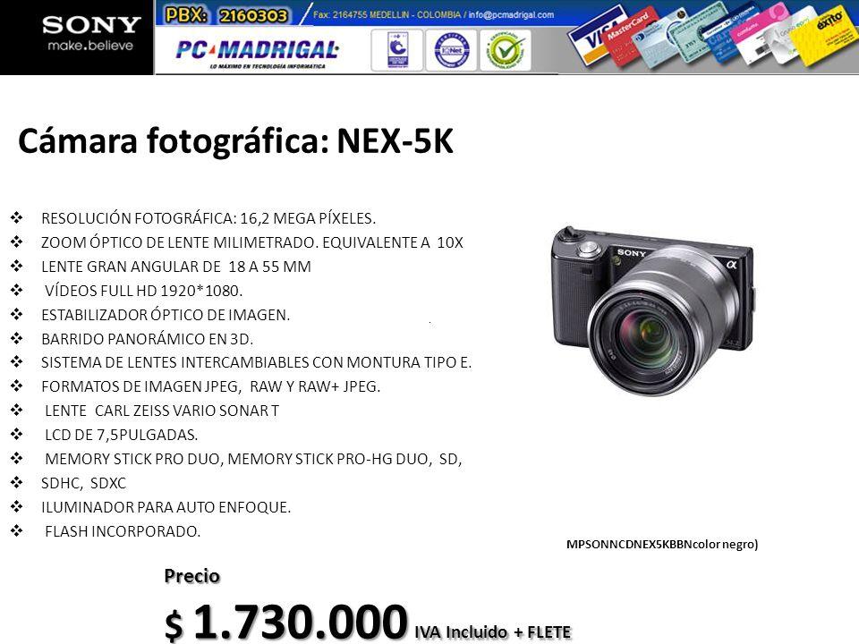 Cámara fotográfica: NEX-5K