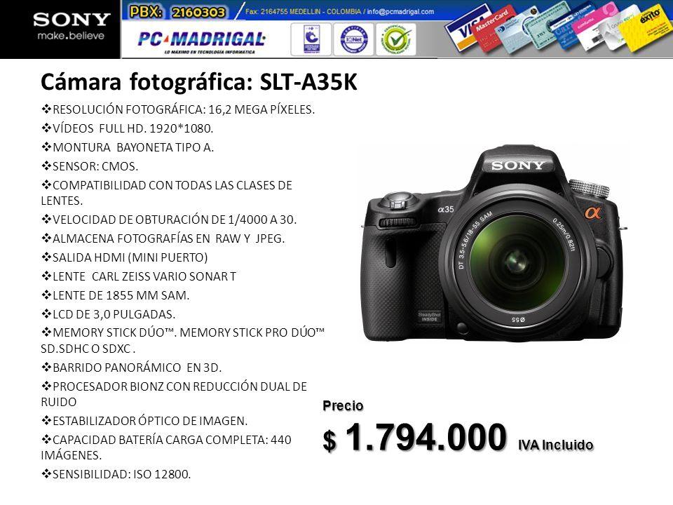 Cámara fotográfica: SLT-A35K