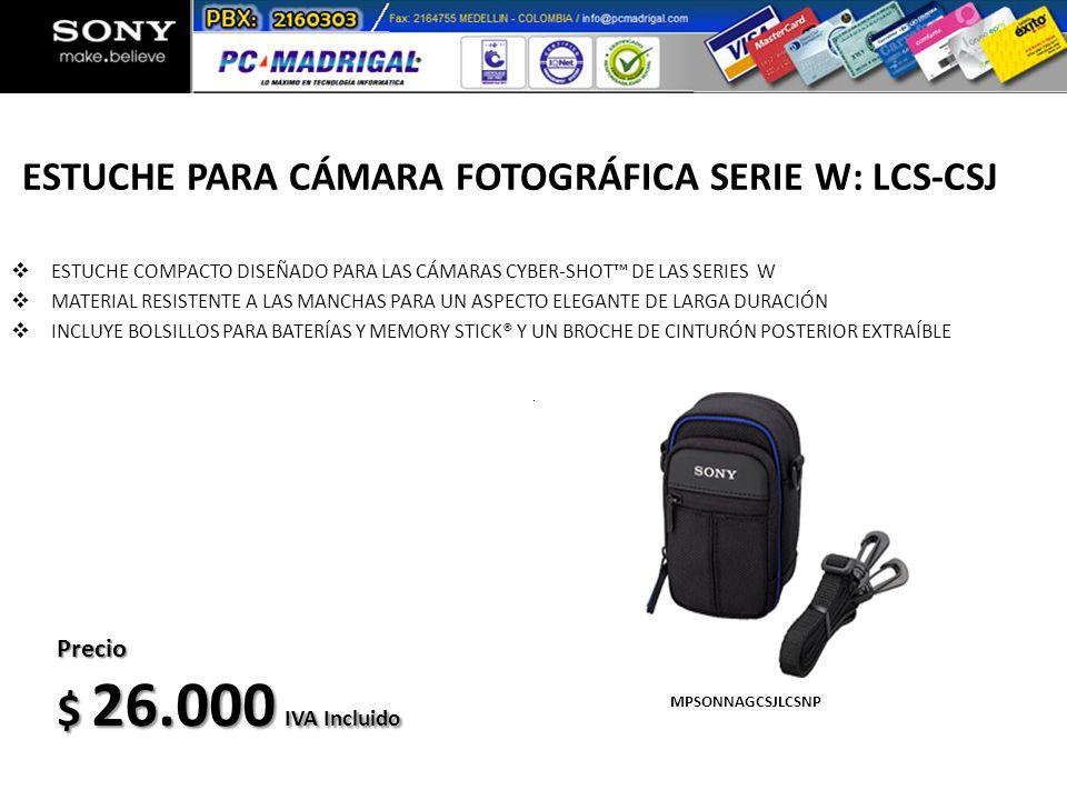 ESTUCHE PARA CÁMARA FOTOGRÁFICA SERIE W: LCS-CSJ