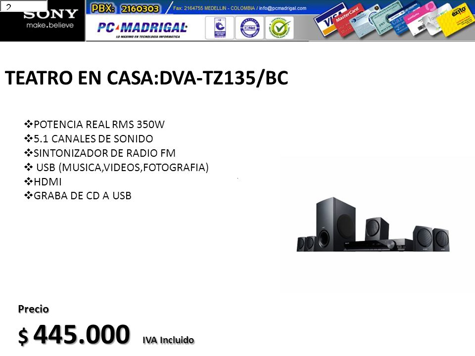 TEATRO EN CASA:DVA-TZ135/BC