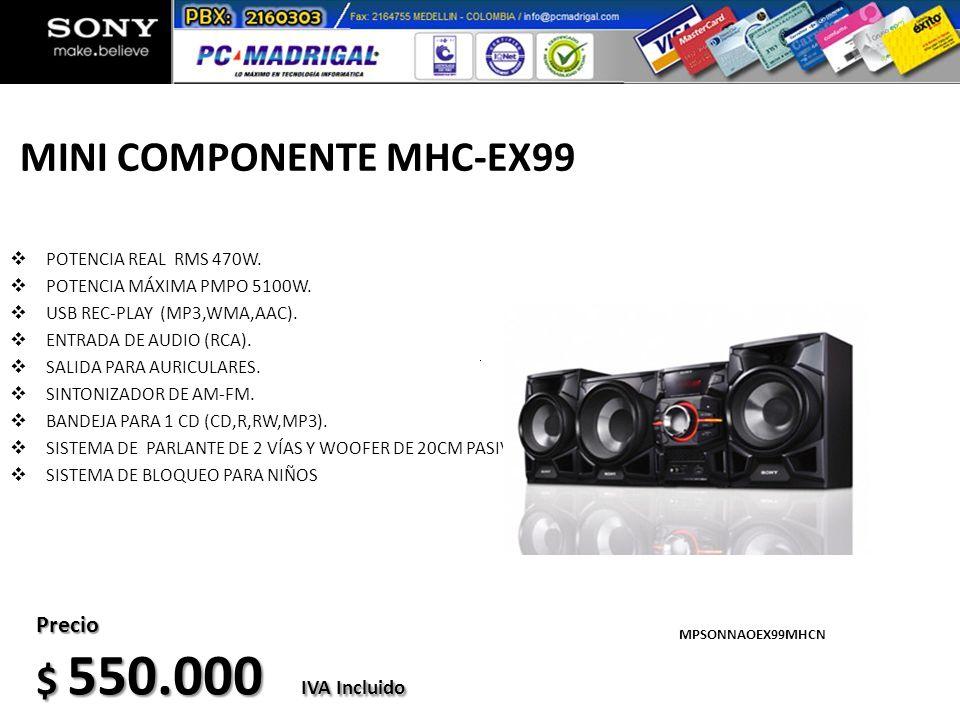MINI COMPONENTE MHC-EX99