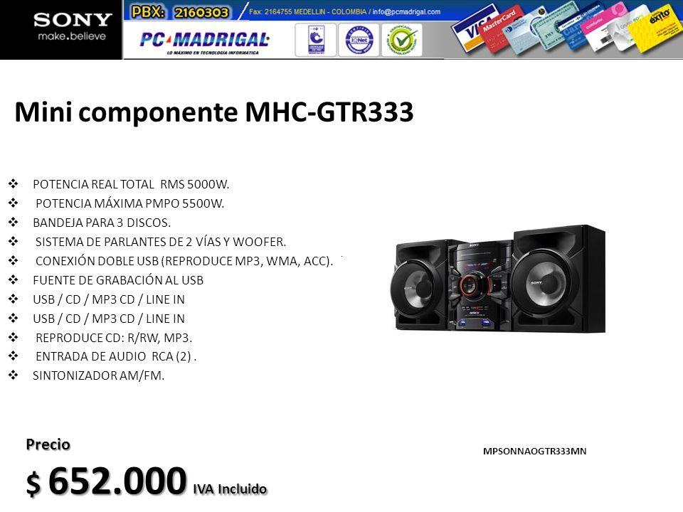 Mini componente MHC-GTR333