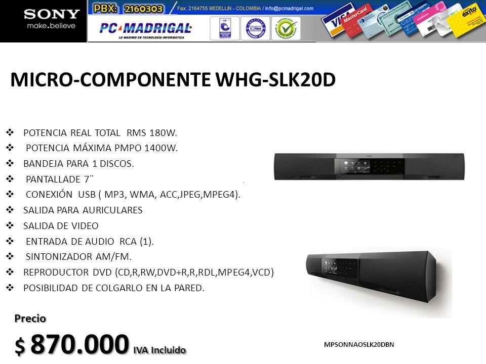 MICRO-COMPONENTE WHG-SLK20D