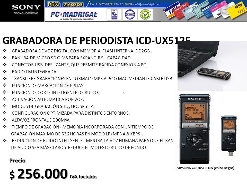 GRABADORA DE PERIODISTA ICD-UX512F