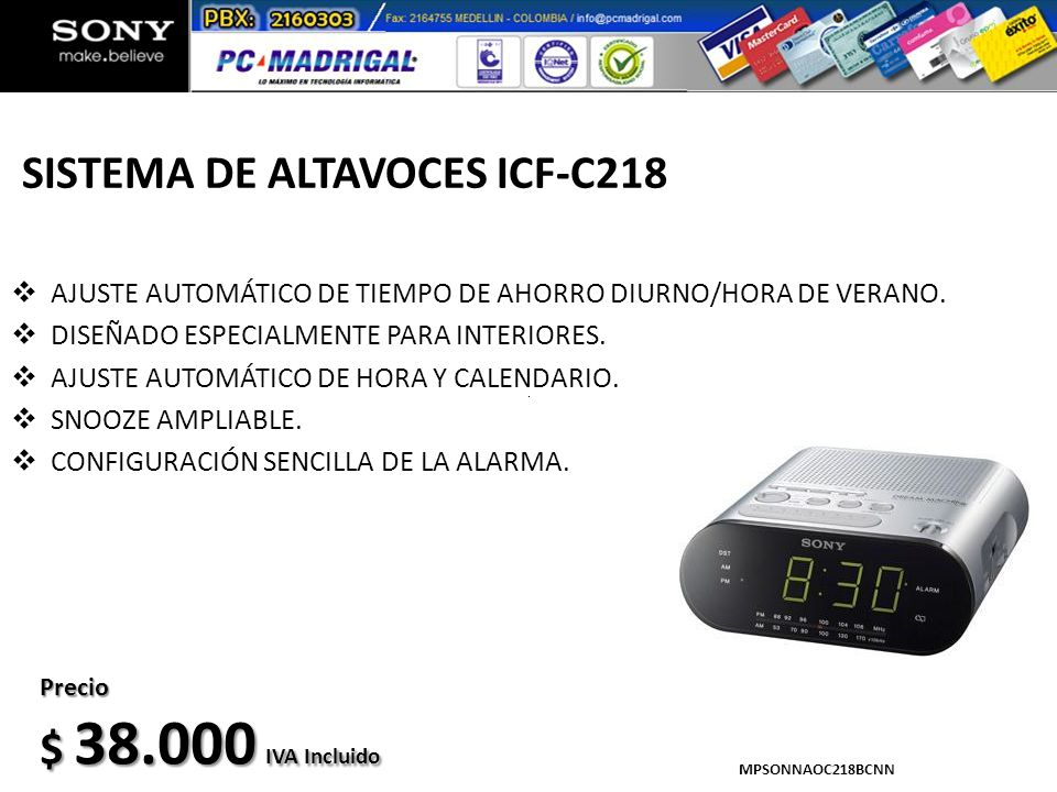 SISTEMA DE ALTAVOCES ICF-C218