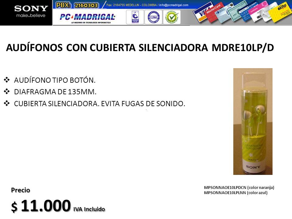 AUDÍFONOS CON CUBIERTA SILENCIADORA MDRE10LP/D