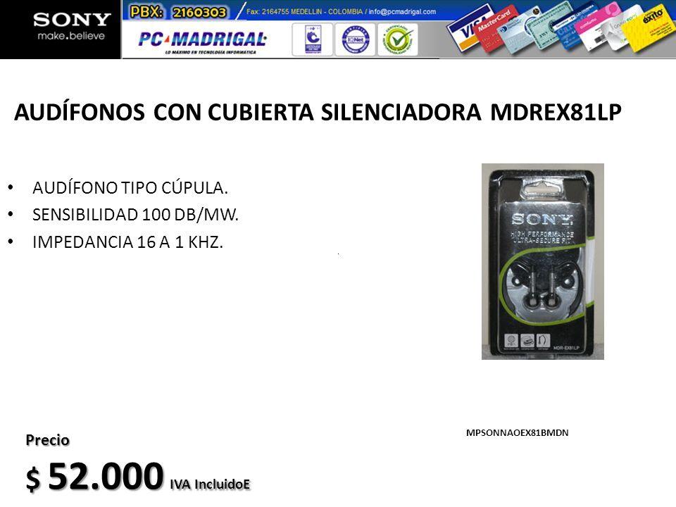 AUDÍFONOS CON CUBIERTA SILENCIADORA MDREX81LP