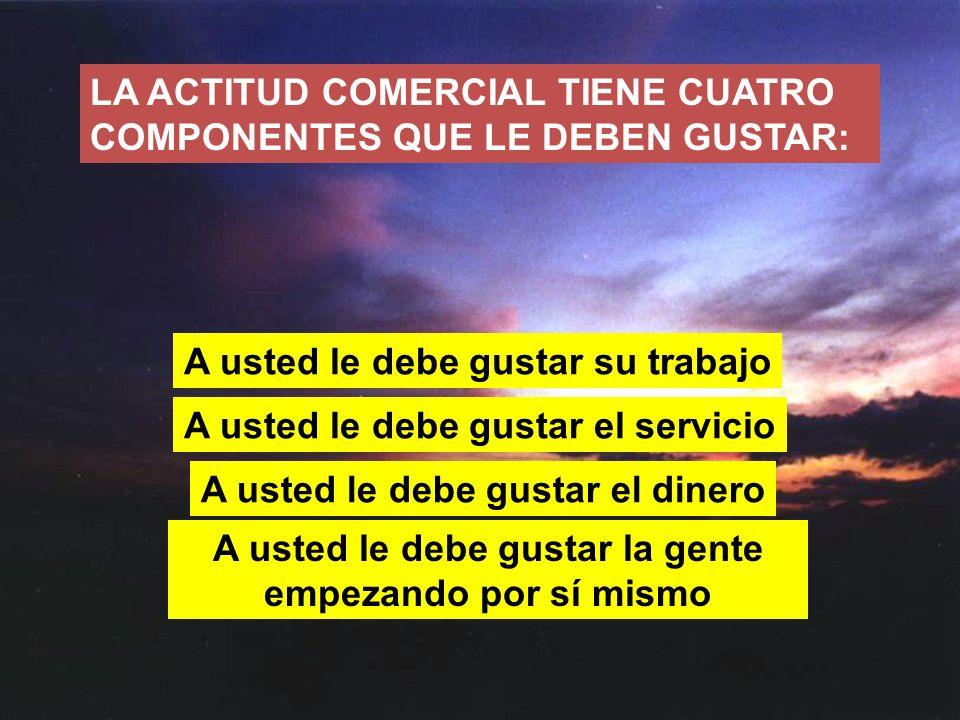 LA ACTITUD COMERCIAL TIENE CUATRO COMPONENTES QUE LE DEBEN GUSTAR: