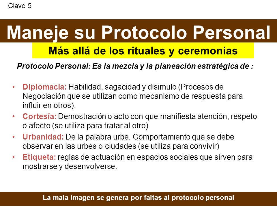 Maneje su Protocolo Personal