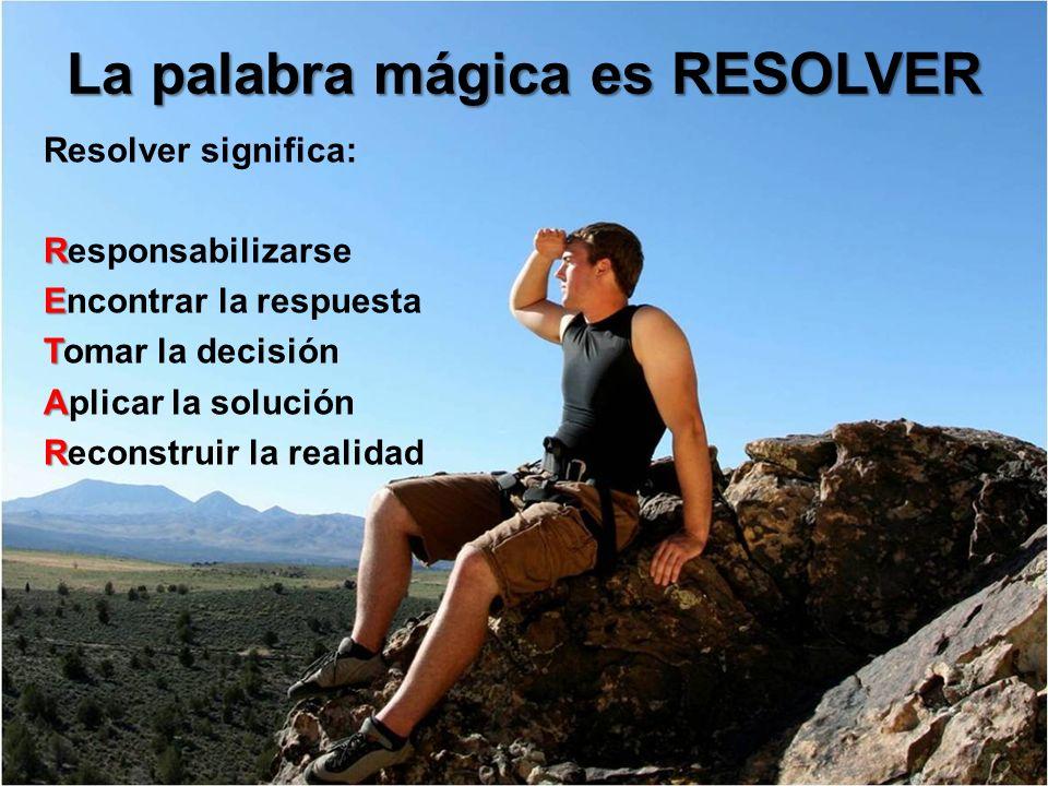 La palabra mágica es RESOLVER