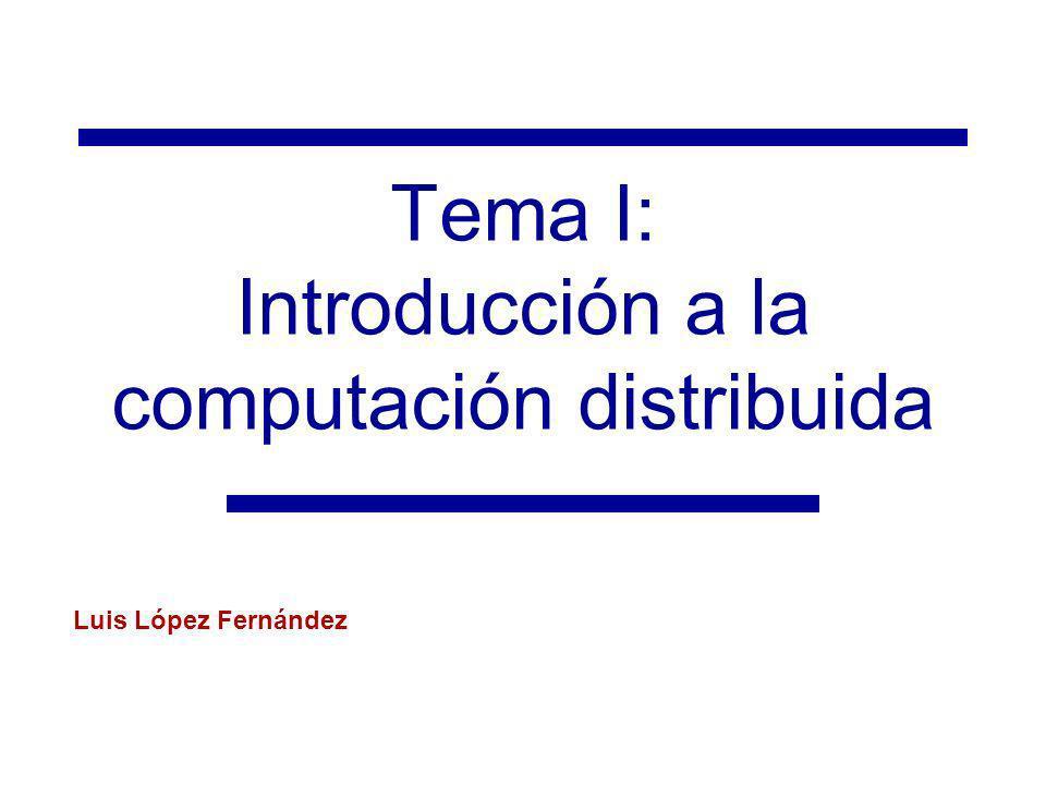 Tema I: Introducción a la computación distribuida