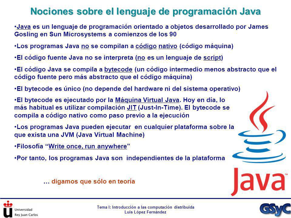 Nociones sobre el lenguaje de programación Java