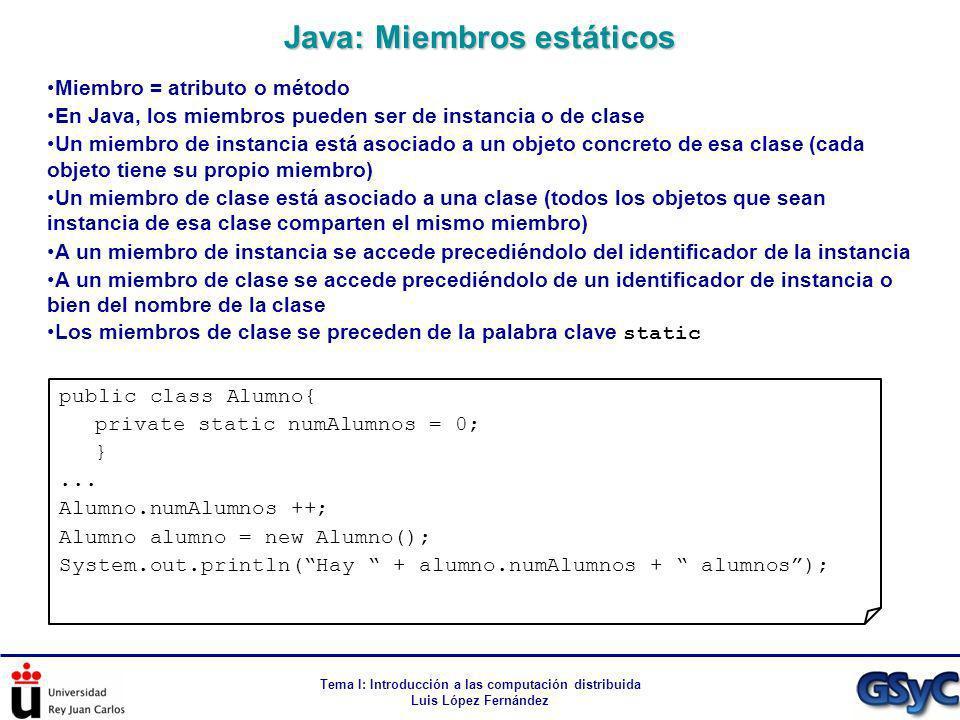Java: Miembros estáticos