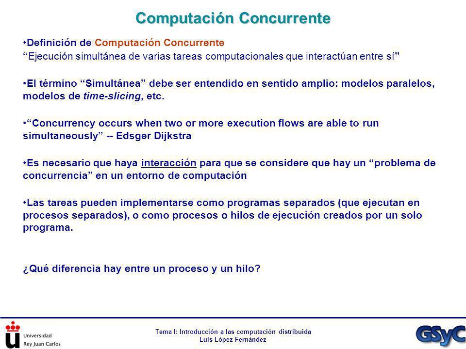 Computación Concurrente