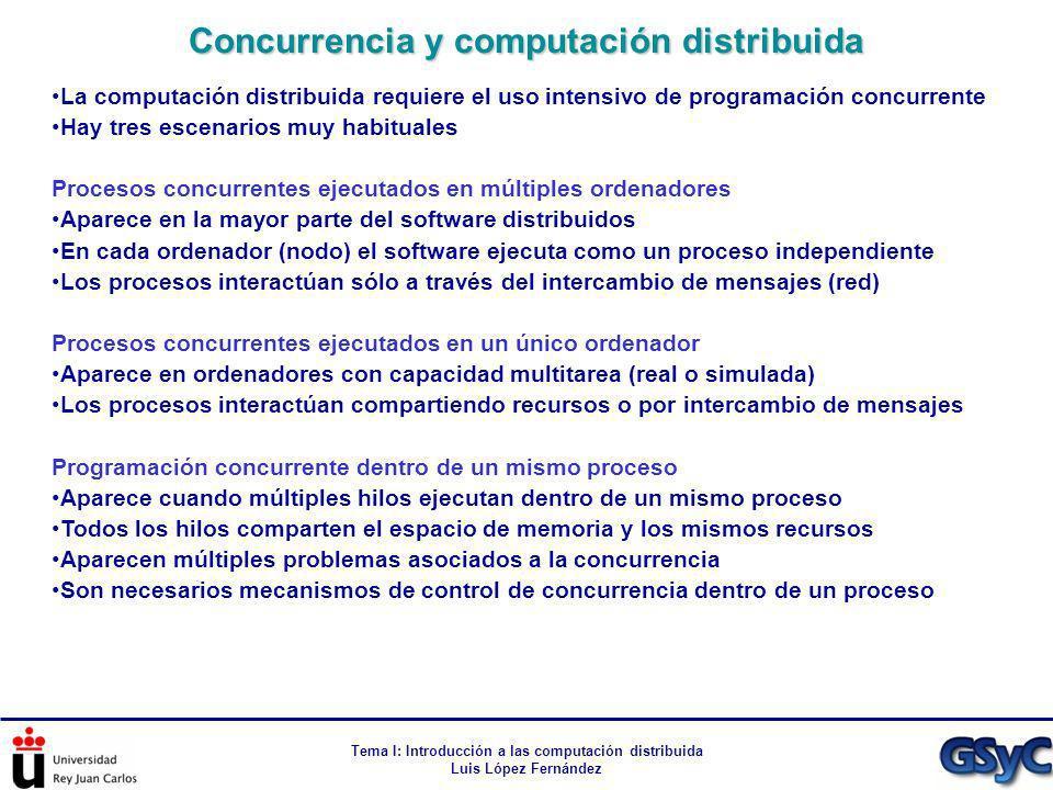 Concurrencia y computación distribuida