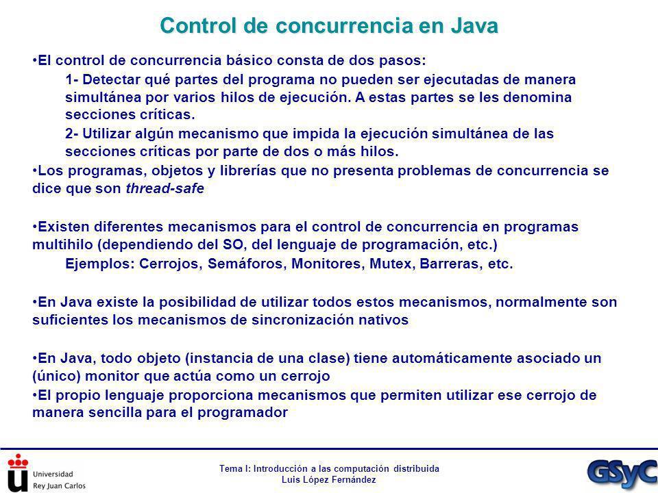 Control de concurrencia en Java