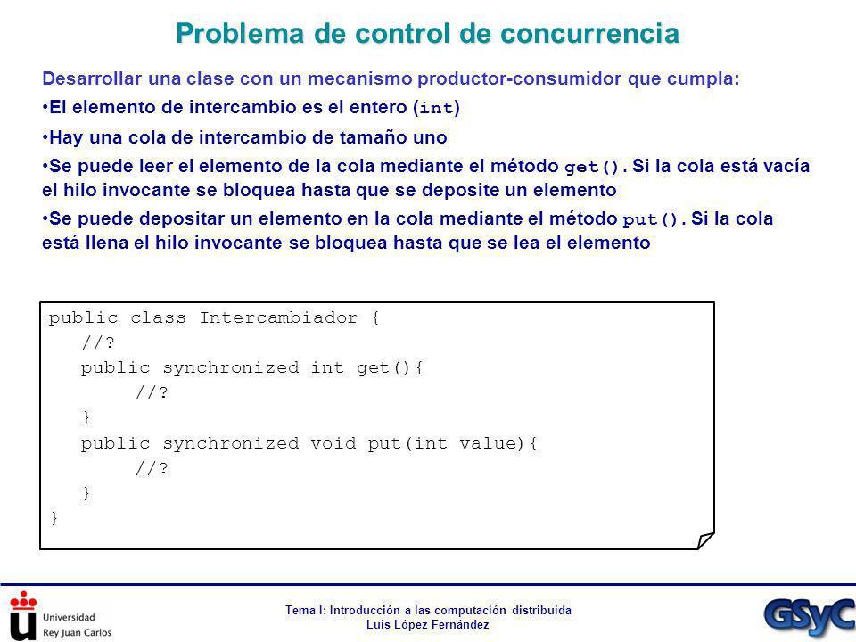Problema de control de concurrencia