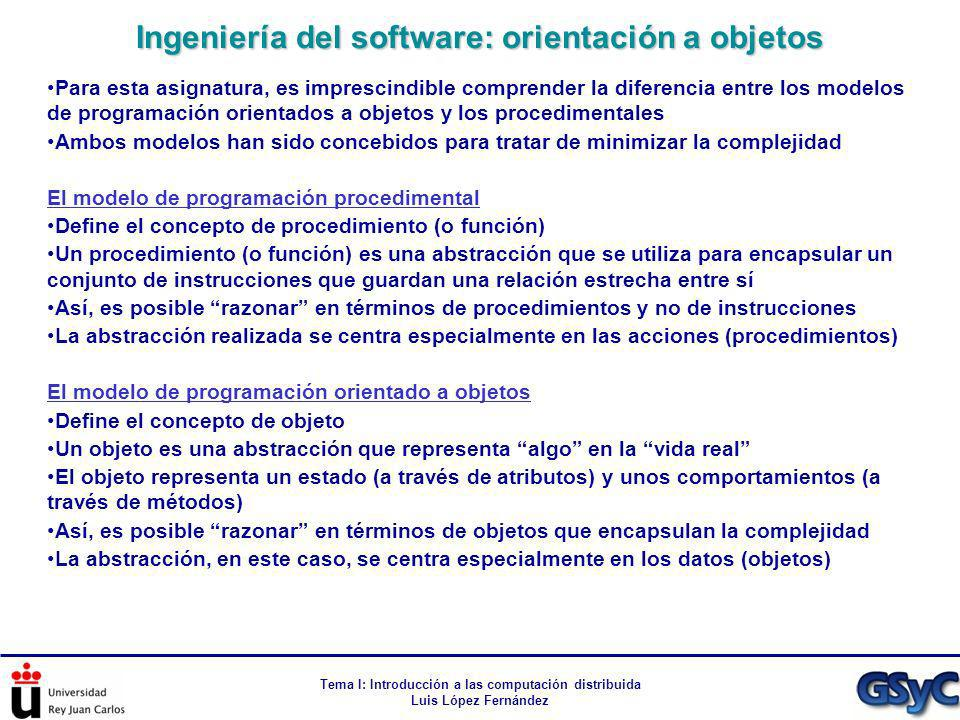 Ingeniería del software: orientación a objetos