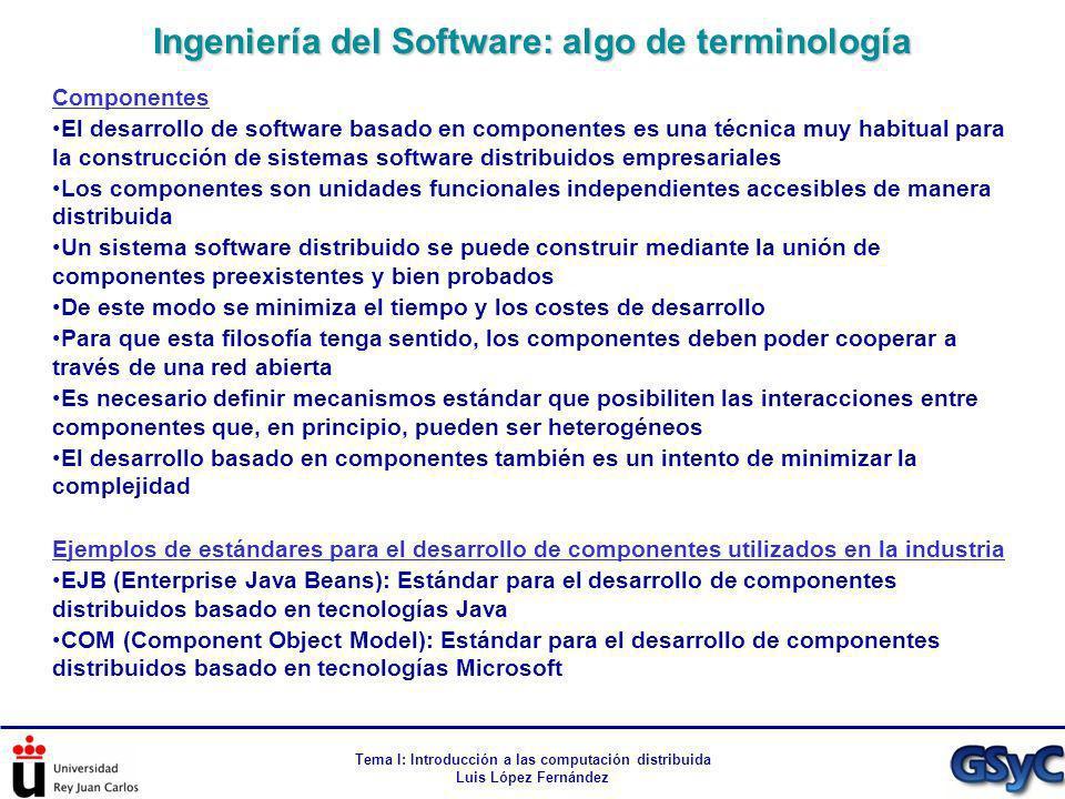 Ingeniería del Software: algo de terminología