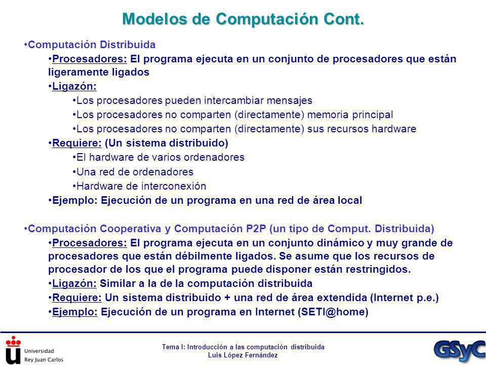 Modelos de Computación Cont.