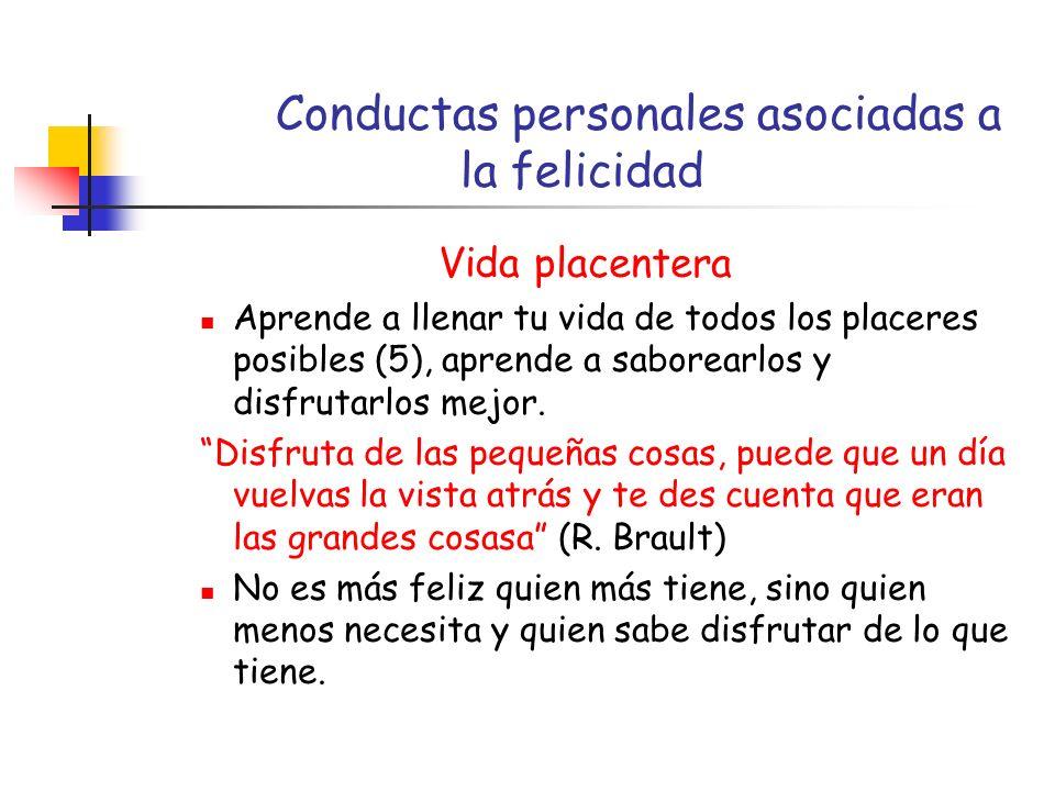 Conductas personales asociadas a la felicidad
